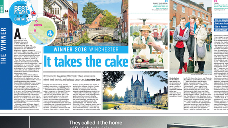 Best Place to Live - Sunday Times